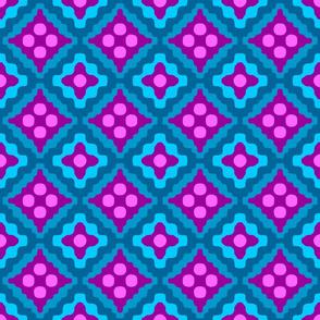 tribal diamonds - bohemian purple and turquoise