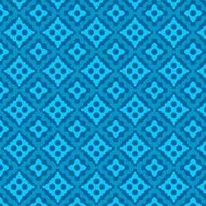 small tribal diamonds - turquoise
