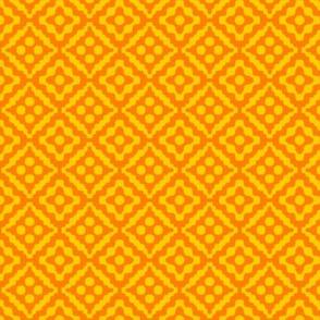 small tribal diamonds - saffron orange and yellow