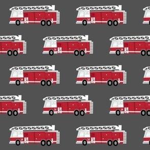 fire trucks - dark red