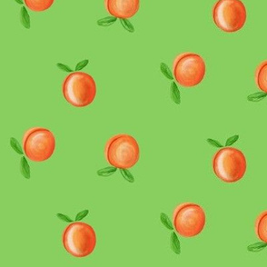 So Peachy Sweet Fruit / Painterly Peach - Orange -Green-Small/Med