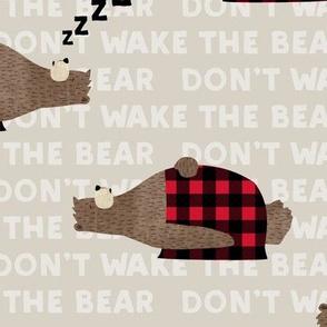 don't wake the bear - beige