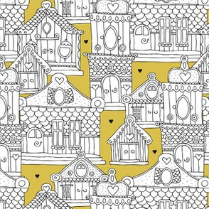 Romantic Europe travel architecture buildings and houses bohemian mustard yellow