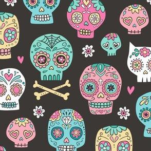 Sugar Skulls on Black