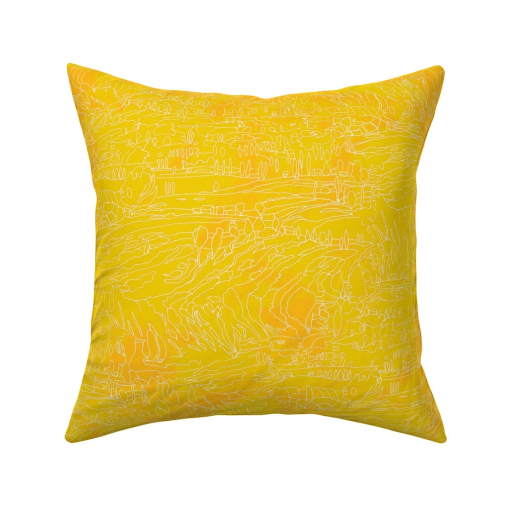 Catalan Throw Pillow featuring Sunflower Dance with Matisse Purple Green by dorothyfaganartist