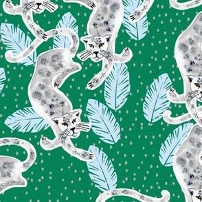 Tropicana Jaguar (emerald/powder blue)