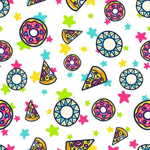 Pizza and Donut Doodle