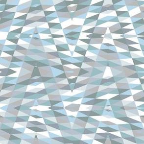 blue-grey patchwork arrow