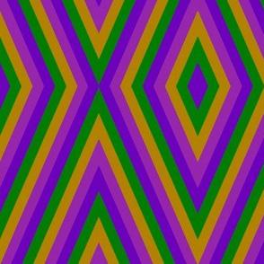 Mardi Gras Striped Diamond
