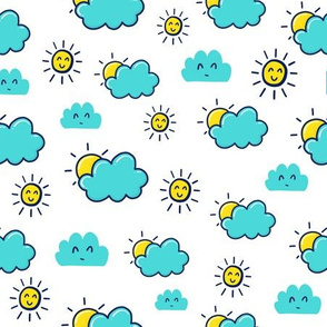 Partly Cloudy Doodle