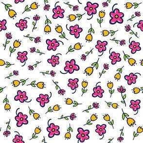 Spring Flowers Doodle