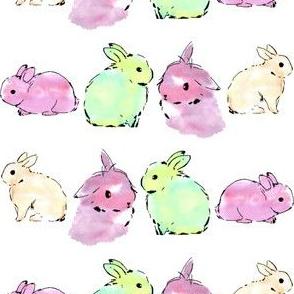 bunny rabbit watercolour
