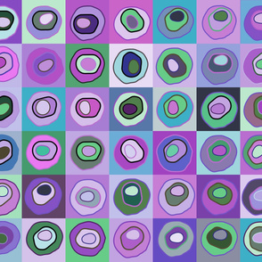 Circle quilt purple