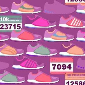 Running Shoes & Race Bibs - Magenta