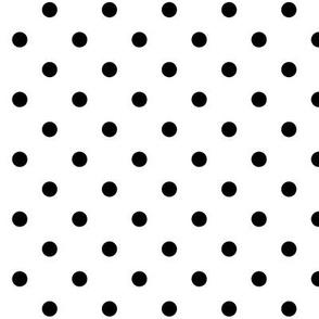 True Black Polka Dots Dotted