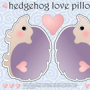 hedgehog love pillow