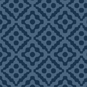 tribal diamonds - navy blue