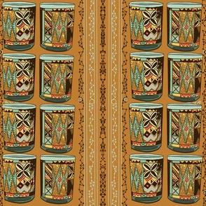Tiki Bar vintage cups by Salzanos
