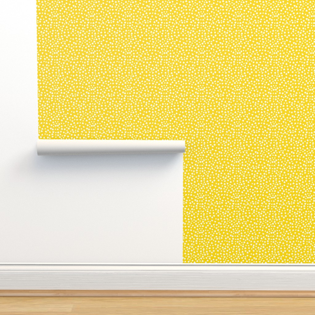 Isobar Durable Wallpaper featuring Fun Yellow  Triangles by ms_hey_textildesign
