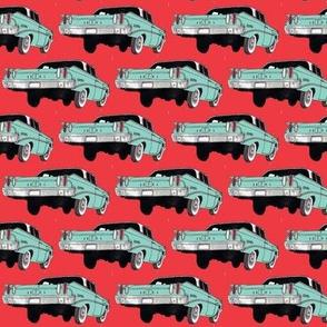 Nifty Sixties 1960 Edsel Ranger aqua/red