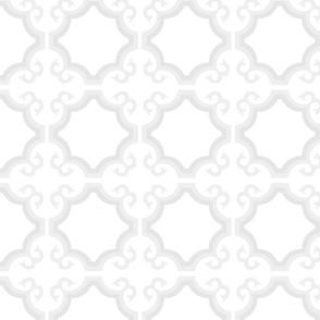 White Tonal Cross