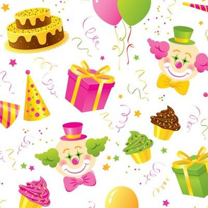 Birthday Party in pink and green