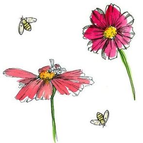 Cosmos and Honey bees