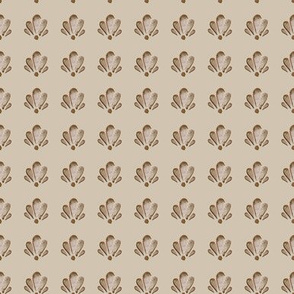 6-18D 1Nautical Shell Brown Tan Watercolor_Miss Chiff Designs