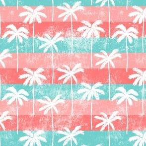 palm tree on retro pink stripes