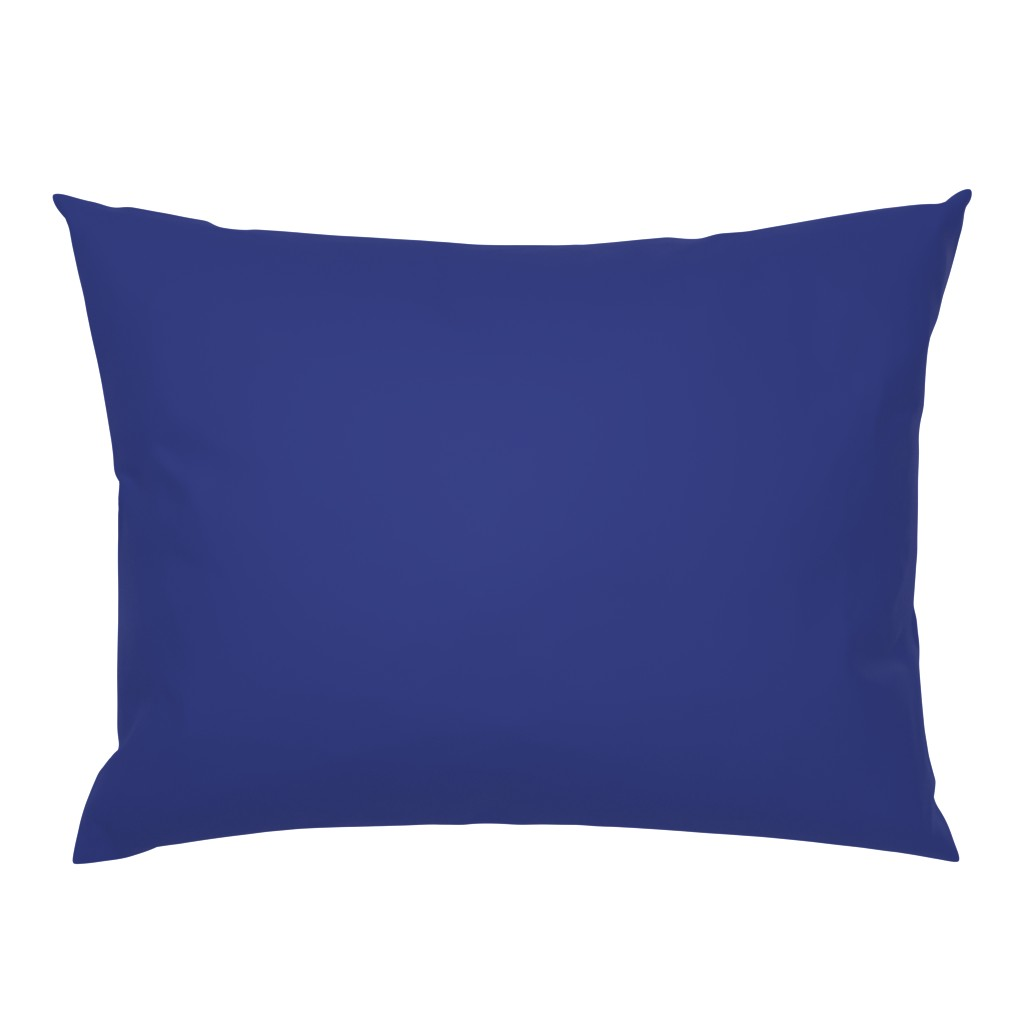 Campine Pillow Sham featuring Prussian Blue solid color (#2f3a7f) by Su_G by su_g
