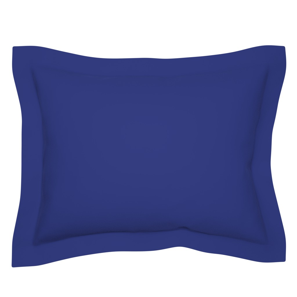 Sebright Pillow Sham featuring Prussian Blue solid color (#2f3a7f) by Su_G by su_g