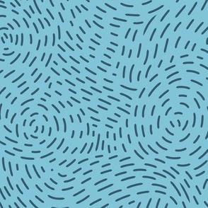 Stitched Swirls - Light Blue