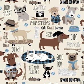 Hipster Dog natural blue