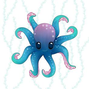 Octopus Friend_Pillow_18x18in