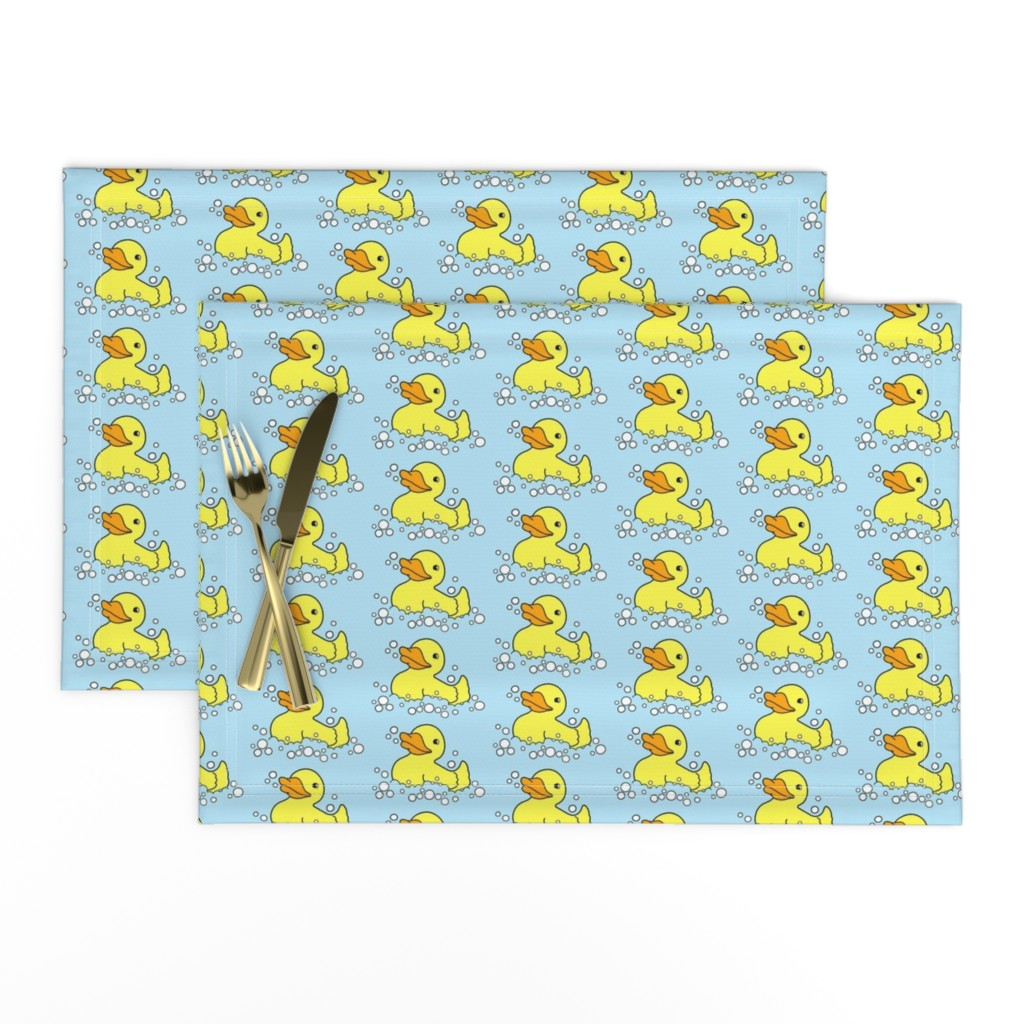 Lamona Cloth Placemats featuring D is for Duck by rebelinn