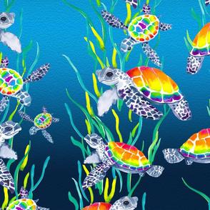 Technicolor Turtle - Large
