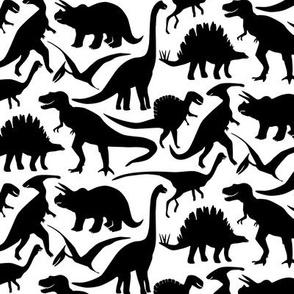 Little Dinosaur friends - Black