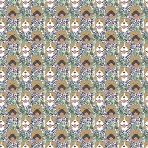 Small Floral American Bully portraits B
