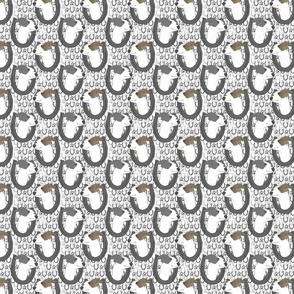 Italian Greyhound horseshoe portraits C - small