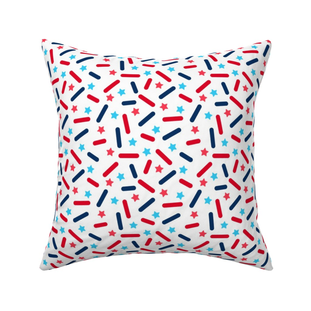 Catalan Throw Pillow featuring Donut Sprinkles - 4th of July by heatherhightdesign