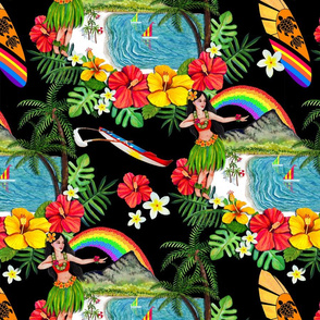 _TK-All_ORIGINAL_ART_Black-Hawaii_Rainbow-Wk_One-150dpi