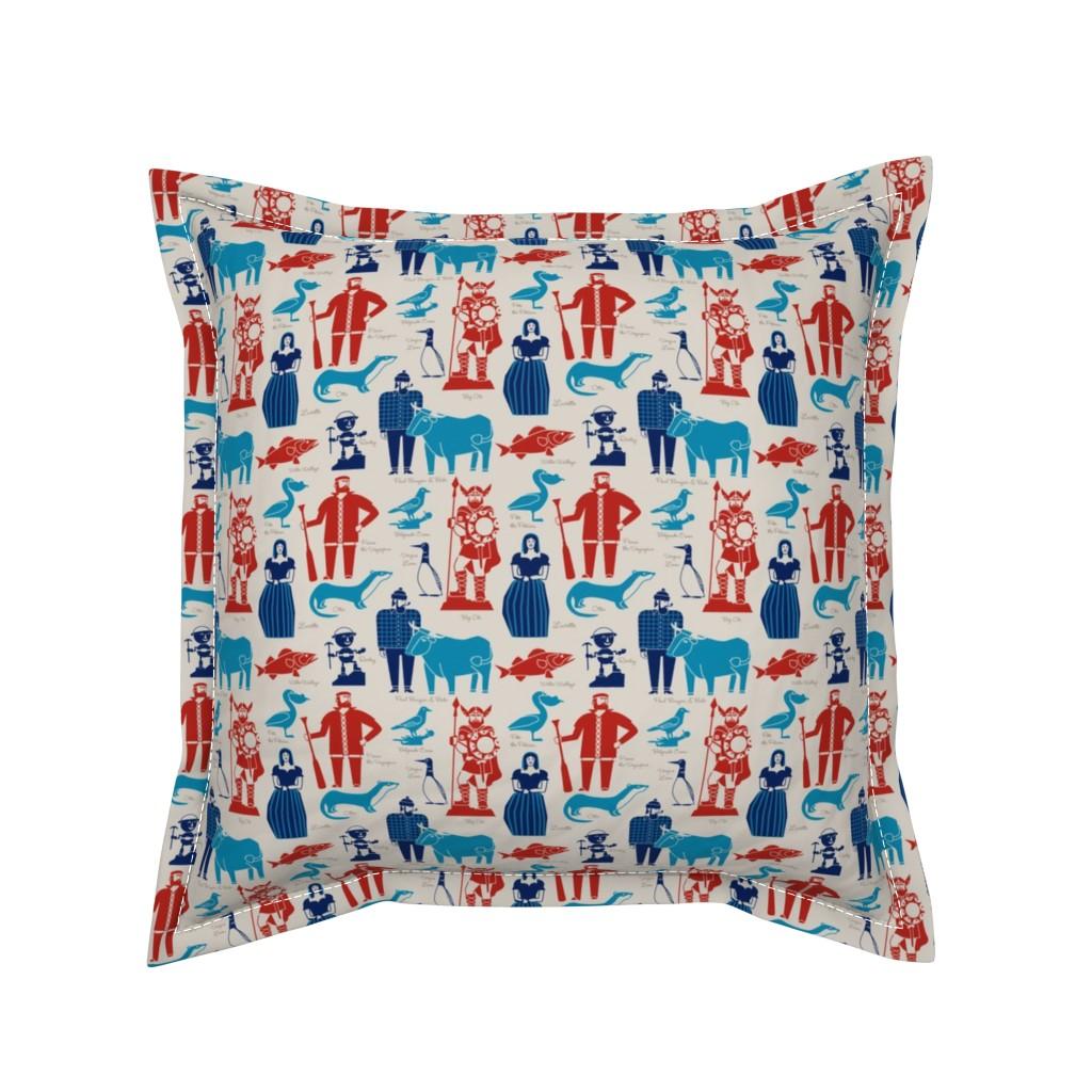 Serama Throw Pillow featuring Minnesota icons by cindylindgren