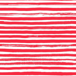 Watercolor Stripe Red