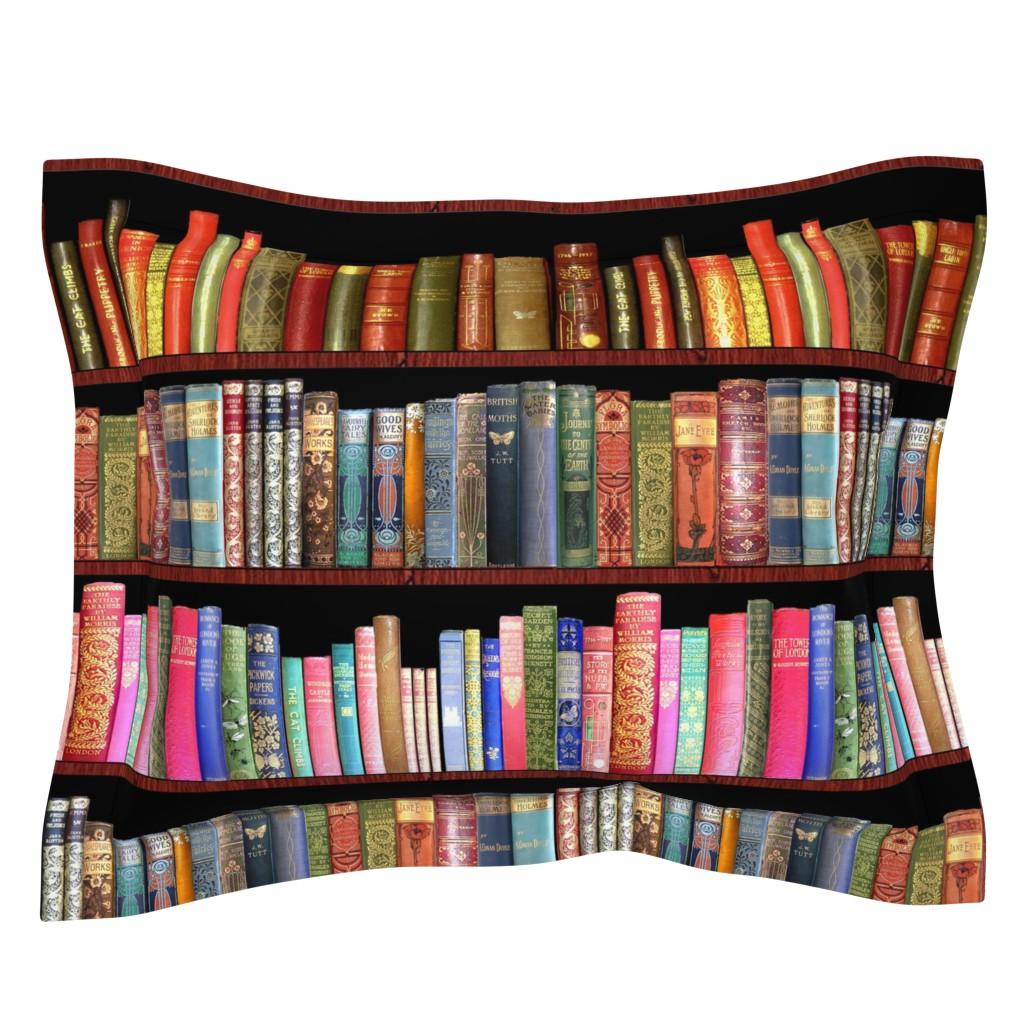 Sebright Pillow Sham featuring Antique books/ Jane Austen & more  by magentarosedesigns