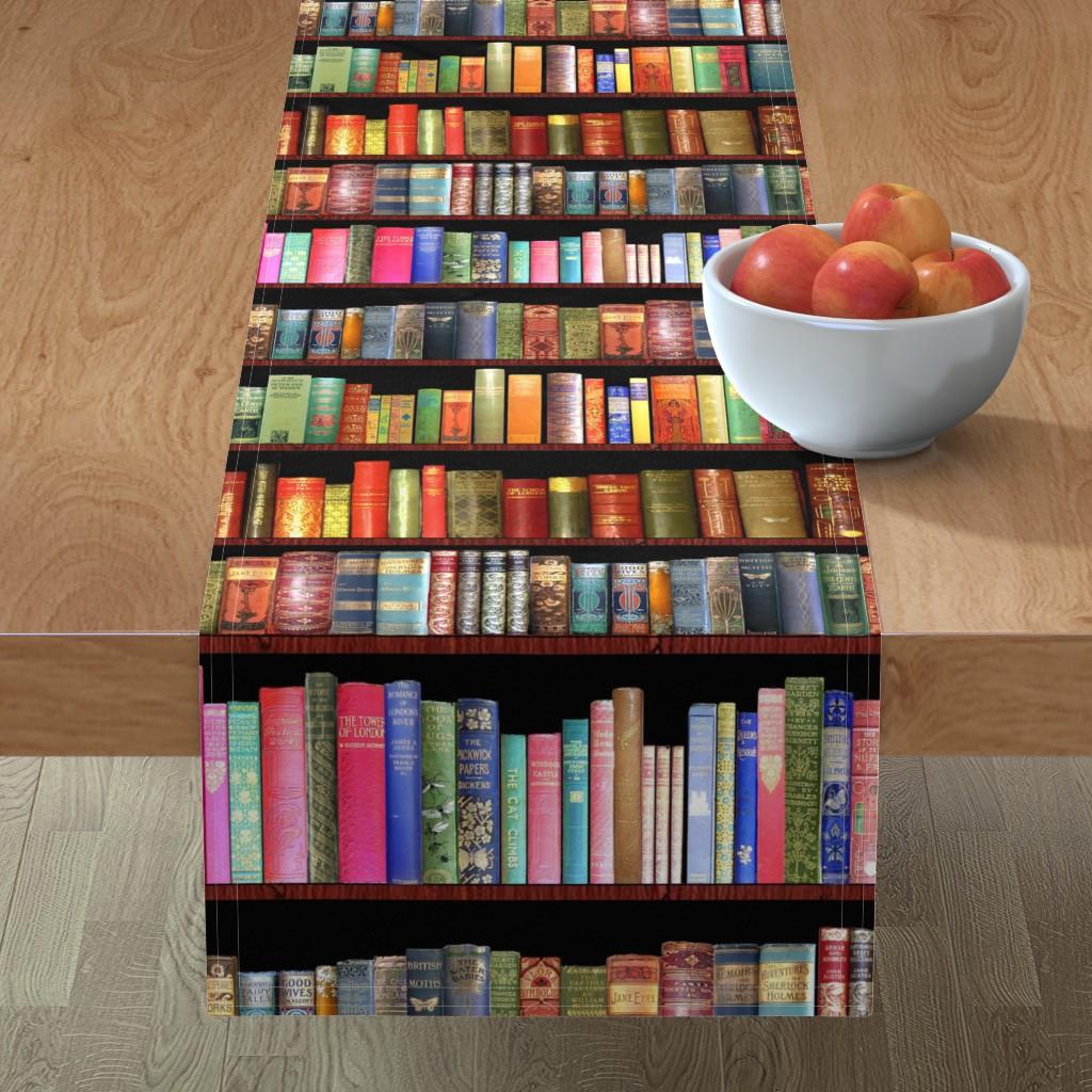 Minorca Table Runner featuring Antique books/ Jane Austen & more  by magentarosedesigns