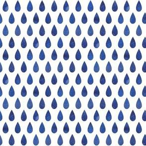 Raindrops - blue - smaller scale