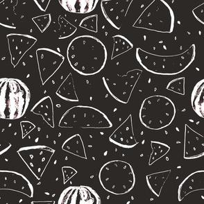 Black and White Melon Pattern