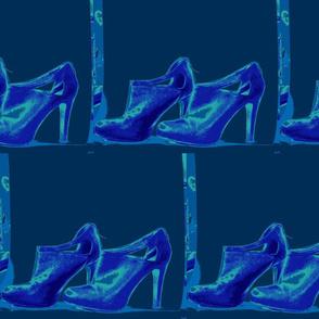 shoes in indigo tones