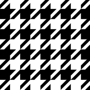 houndstooth black and white minimalist pattern print fabric
