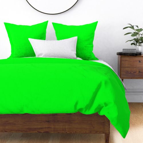 Home Decor Duvet Cover, Turquoise And Lime Green Bedding